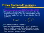fitting routines procedures