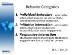 behavior categories