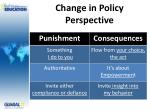 change in policy perspective1