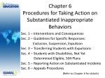 chapter 6 procedures for taking action on substantiated inappropriate behaviors