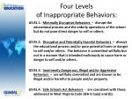 four levels of inappropriate behaviors