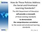 how do these policies address the social and emotional learning standards