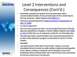 level 2 interventions and consequences cont d