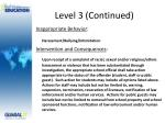 level 3 continued