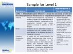 sample for level 1