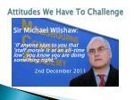 attitudes we have to challenge