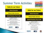 summer term a ctivities