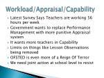 workload appraisal capability