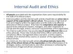 internal audit and ethics