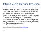 internal audit role and definition