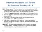 international standards for the professional practice of i a