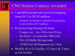 cng station contract awarded