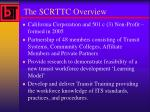 the scrttc overview