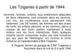 les tziganes partir de 1944