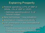 explaining prosperity