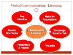 verbal communication listening