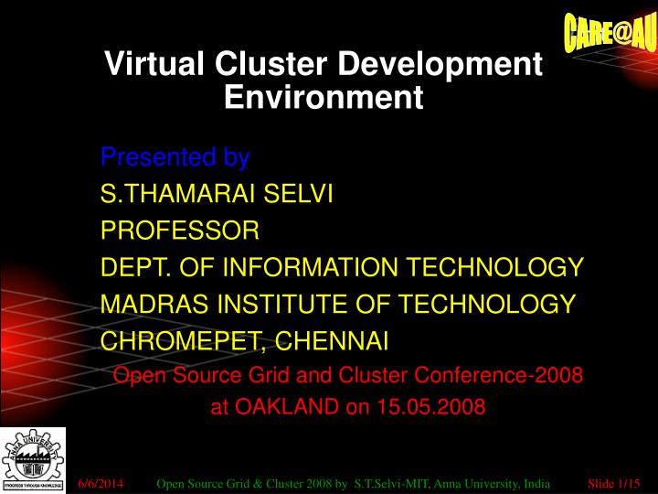 virtual cluster development environment n.
