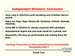 independent directors conclusion