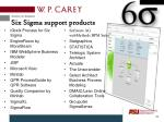 six sigma support products