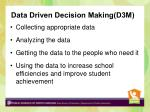 data driven decision making d3m