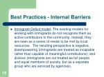 best practices internal barriers