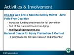 activities involvement