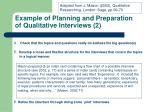 example of planning and preparation of qualitative interviews 2