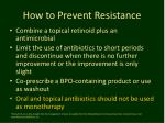 how to prevent resistance