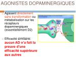 agonistes dopaminergiques1