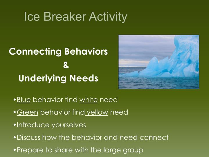 Ice Breaker Activity