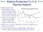 bakken production vs u s nigerian imports