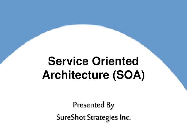 service oriented architecture soa n.