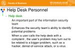 help desk personnel