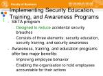 implementing security education training and awareness programs