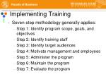 implementing training