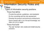 information security roles and titles