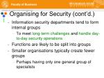 organising for security cont d