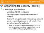 organising for security cont d1