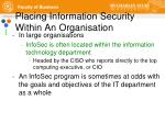 placing information security within an organisation