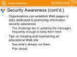 security awareness cont d16