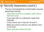 security awareness cont d2