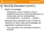security education cont d2