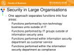 security in large organisations