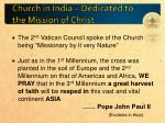 church in india dedicated to the mission of christ