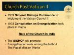church post vatican ii