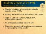 inspiring growth of the pms in the wake of persecution