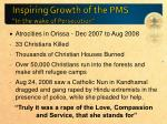 inspiring growth of the pms in the wake of persecution1