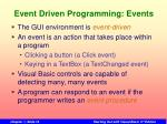 event driven programming events