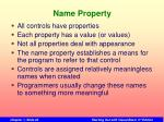 name property