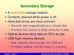 secondary storage